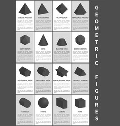 geometric figures in black vector image