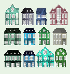 house architecture set vector image