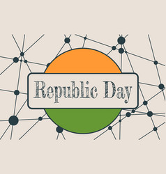 Indian republic day concept vector