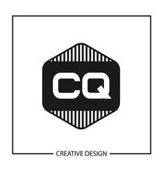 Initial letter cq logo template design vector