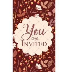 Invitation card with sign you are invited vector
