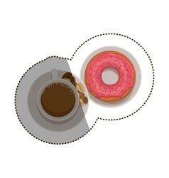 Isolated donut and coffee cup design vector