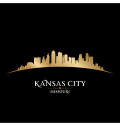 Kansas city Missouri skyline silhouette vector image