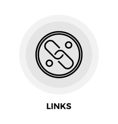 link flat icon vector image