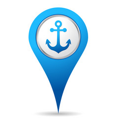 location anchor icon vector image