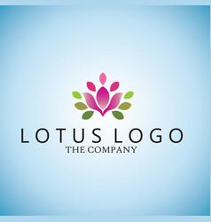 lotus ideas design on background vector image