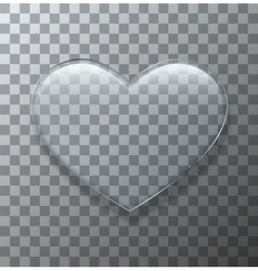 modern glass heart on sample background vector image