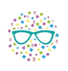modern glasses isolated icon vector image