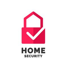 Modern minimalistic logo design for home vector