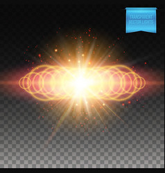 Multiple ringed yellow fiery burst background vector