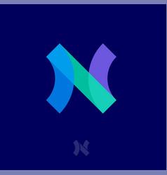 N logo abstract monogram transparent network vector