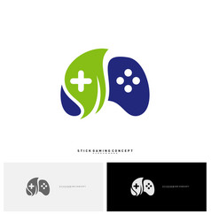 nature joystick game logo concept template design vector image