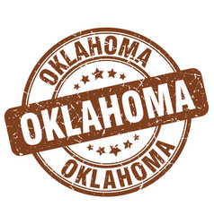 Oklahoma brown grunge round vintage rubber stamp vector
