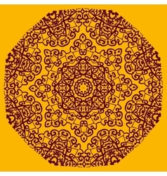 Ornamental henna mandala card Geometric circle vector image
