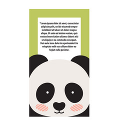 Panda animal cover and text vector