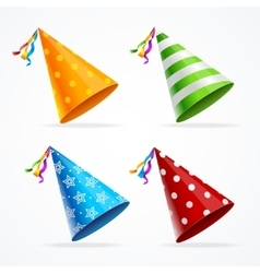Party Hat Set vector image
