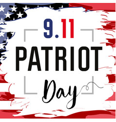 Patriot day card usa brush paint vector