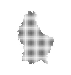 pixel map of luxembourg dotted map of luxembourg vector image