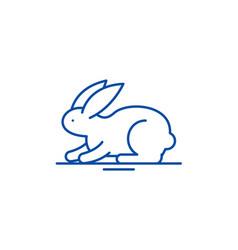 rabbit line icon concept rabbit flat vector image