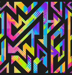 Rainbow color geometric seamless texture vector