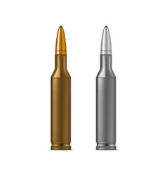 realistic detailed 3d bullets vector image