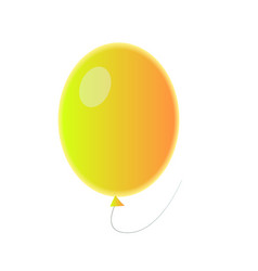 realistic orange balloon with reflection for vector image