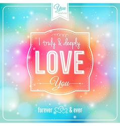 Romantic card on a soft fantasy background vector image