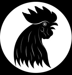 rooster head vector image