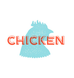 rooster poultry vintage logo retro print vector image