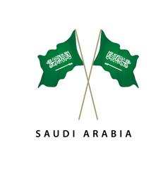 Saudi arabia flag template design vector