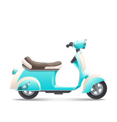 scooter-turquoise vector image
