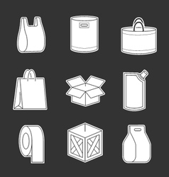 set package icons vector image