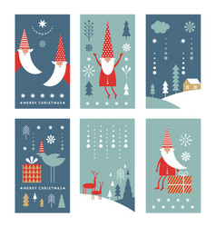 set vertical christmas or new yers banners vector image