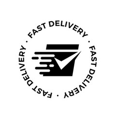 shipping fast delivery logo icon vector image