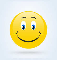 Shy emoji emoticon looking down emoji vector