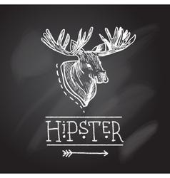 Sketch antlers vector image