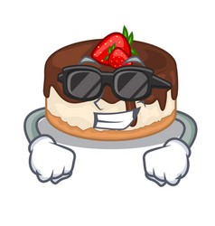 Super cool cake berries in character that fresh vector