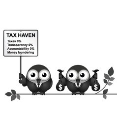 Tax Haven Sign vector