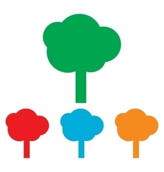 Tree sign Colorfull set vector image