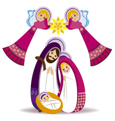 baby jesus in a manger 13 vector image vector image