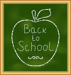 Back to school background with text and apple vector image vector image