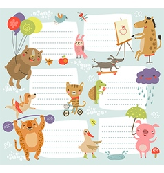 Background with cute characters vector