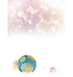 Christmas background with baubles and copyspace vector image
