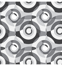 Grey Abstract Spiral Background Seamless Pattern vector image