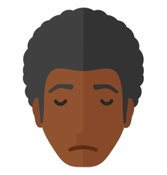 Grieving man with eyes closed vector image