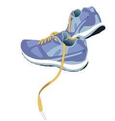 Trail Running Shoe vector image