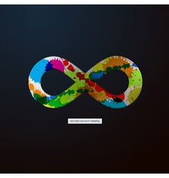 Abstract infinity symbol on black background vector