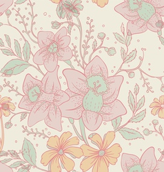 flowers back pattern vector image