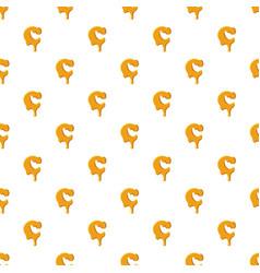 Letter c from honey pattern vector