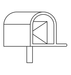 mailbox with mail icon outline style vector image vector image